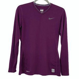 Nike Pro fitted long sleeve top - S